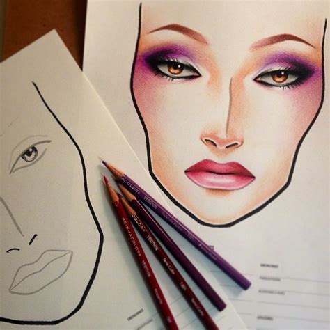 how to be an professional artist 100 best images about mac makeup face charts on pinterest