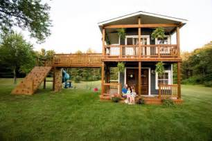 Play Home Design Story On Michigan Builds Two Story Playhouse Complete With