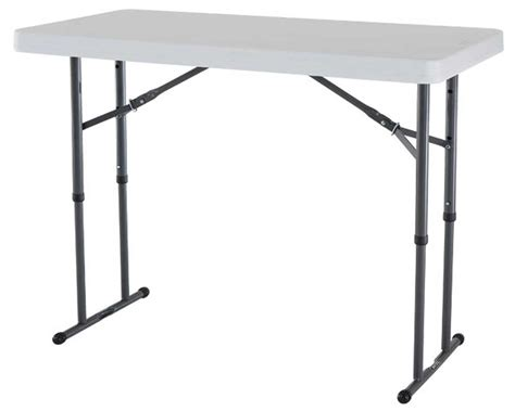 Folding Table Adjustable Height with White Folding Tables Style And Design