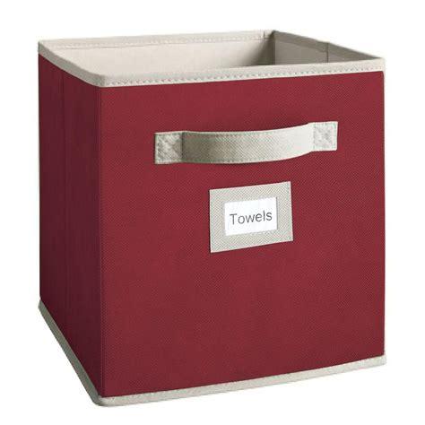 martha stewart living half width fabric drawers martha stewart living 10 1 2 in x 11 in barn red fabric