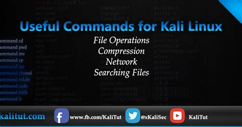 tutorial kali linux español pdf useful commands for kali linux kalitut tutorial