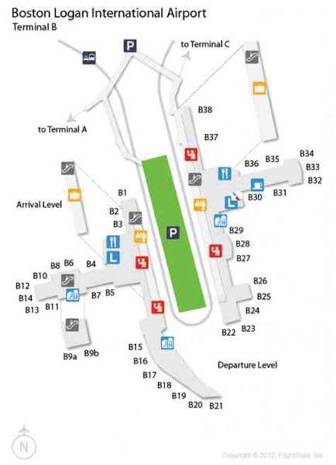 boston airport map logan terminal map holidaymapq