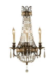 wall chandelier antique bronze 3 arm wall chandelier