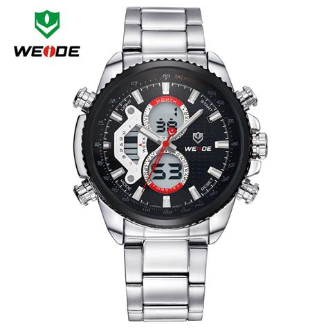 Weide Japan Quartz Silicone Putih Silver Stainless Steel weide mens watches top brand luxury fashion watches