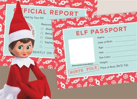 printable elf passport celebrate the elf on the shelf holiday tradition download