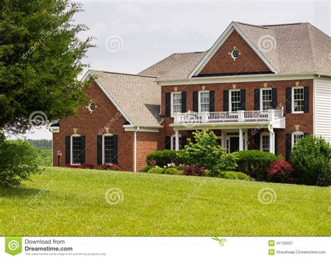 us home photo front elevation large single family home stock image