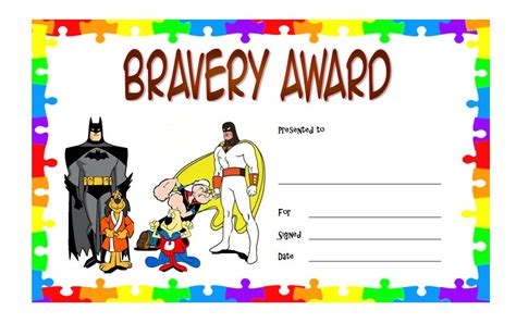 bravery certificate template bravery award certificate template 1 the best template