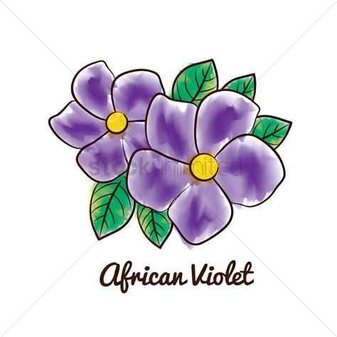 violet clipart violet flower vector image 1611675 stockunlimited
