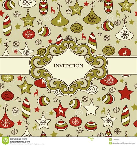christmas pattern frame seamless christmas pattern with frame royalty free stock