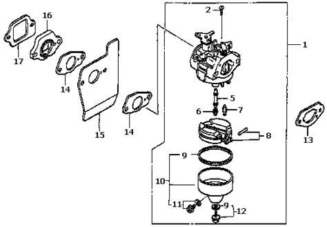 honda gvc160 carburetor diagram plano power equipment store honda gcv160 16100