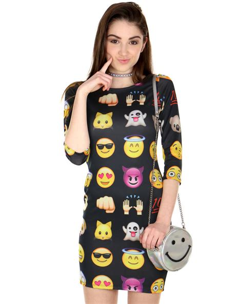 design emoji clothes graphic emoji dresses emoji dress