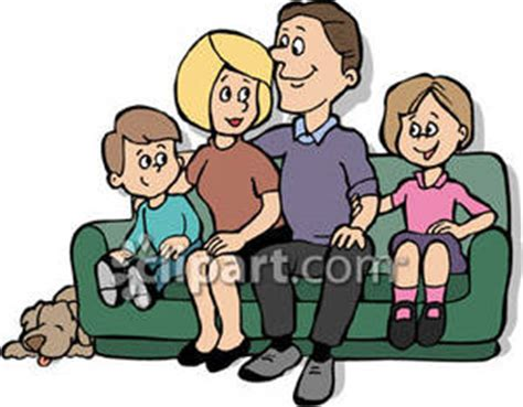 cartoon sitting on couch sitting on couch clipart