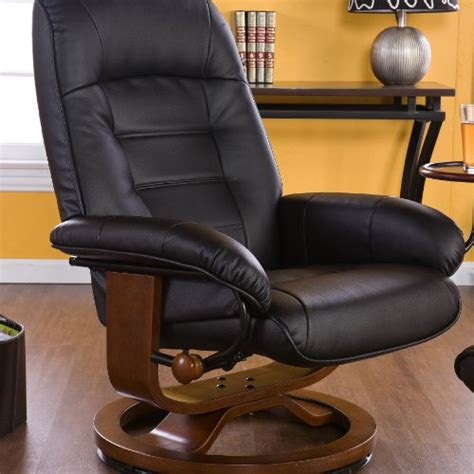 Leather Swivel Rocker Recliner With Ottoman by Save On Swivel Glider Recliner With Ottoman In Black