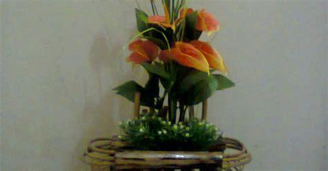 vas bunga rotan  kayu kerajinan rotankayu  bambu
