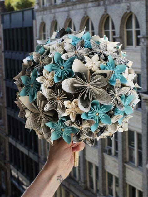 How To Make Recycled Paper Flowers - how to make recycled paper flowers for a wedding bouquet