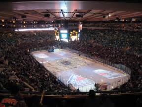 the home disadvantage for the new york rangers