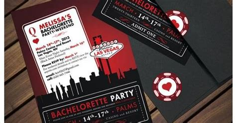 Vegas Themed Bachelorette Party Quot Ticket Quot Invitation Invites Pinterest Behance Robert Ri Free Vegas Themed Invitation Templates