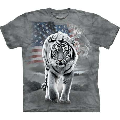 713252 The Mountain Sweater White Tiger Crew Neck patriotic tiger t shirt the mountain clothingmonster