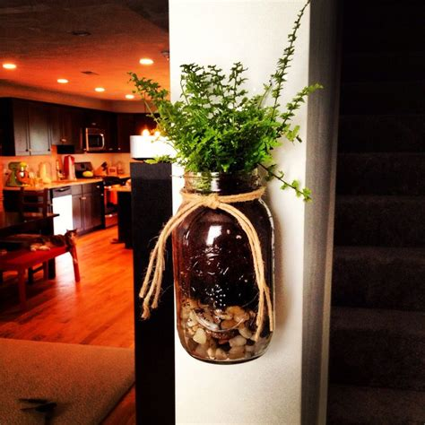 Diy Mason Jar Wall Planter For Decor And Cat Proofing Your Jar Wall Planter