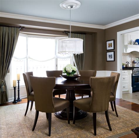 brown dining blue room jane lockhart interior design traditional dining room