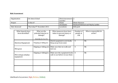 Credit Card Risk Assessment Template by Risk Assessment Template Media