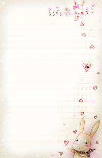 letter paper template bunny letter paper by tho be on deviantart