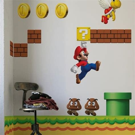 mario bros stickers wall new mario bros wall stickers useful ideas