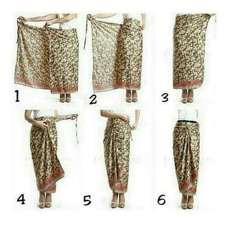 tutorial memakai kain batik 30 gambar cara memakai rok lilit batik yang sedang tren