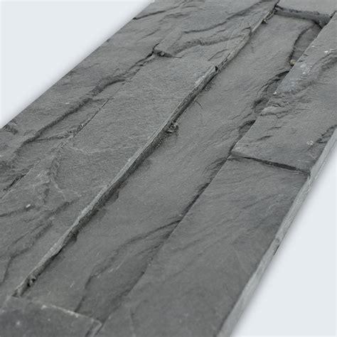 schwarzer schiefer wandverkleidung schiefer schwarz 10x40cm tg19410