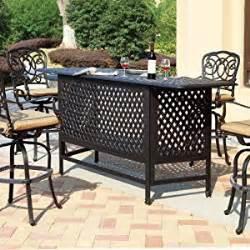 patio furniture bar sets darlee florence 4 person cast aluminum patio party bar set