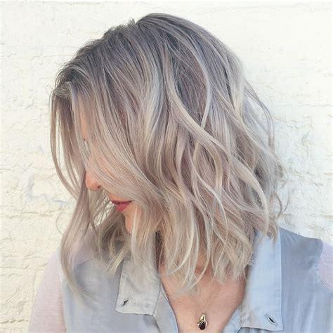bob grey blonde hair 10 x lob hair inspiration irene van guin