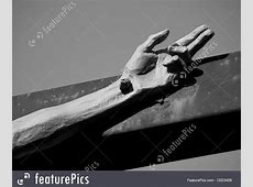Picture Of Crucified Hand Forms Trinity Sign Jesus Nail Clip Art
