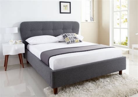 king bed frame and headboard low profile king bed frame with grey upholstered headboard