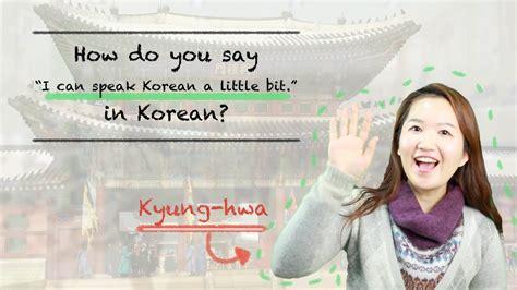 how do you a to speak how do you say quot i can speak korean a bit quot in korean talktomeinkorean