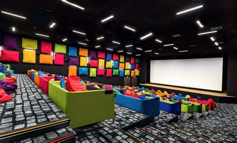 bean bag cinema this bright with bean bags is designed for
