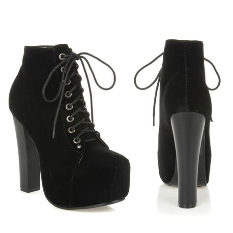 black lace up high heel booties black lace up high heel booties mad heel