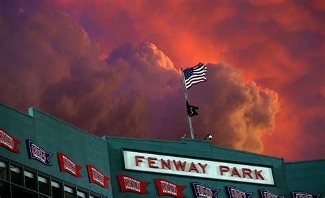 Awe Inspiring the sunset over fenway park was awe inspiring last night