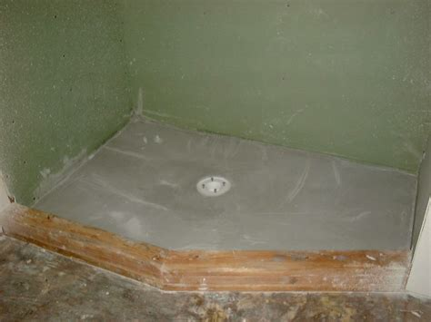 Poured Shower Pan by Fiberglass Shower Patio Liners