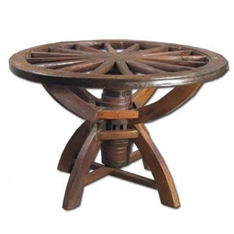 wagon wheel dining table wagon wheels