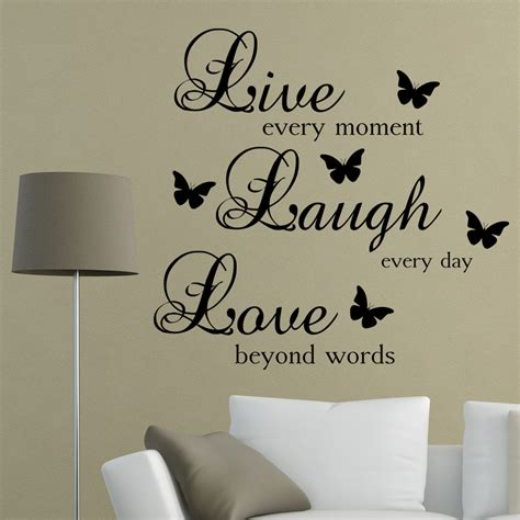 Living Room Word Wall Live Laugh Words Wall Sticker Quote Living Room
