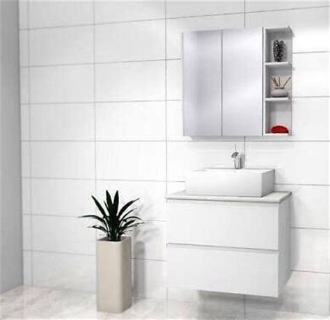 Showers For Freestanding Baths gloss white tiles 300 x 600 rectified bathroomwest