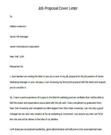 proposal letter examples ms word pages