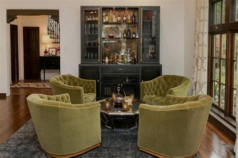 regency living room gray living room with gray built in bar and antiqued
