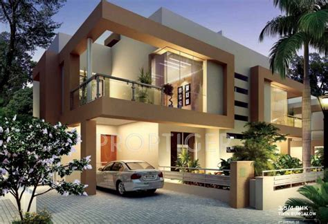 Row House In Pune - main elevation image 2 of kolte patil developers twin bungalows and villa unit available at
