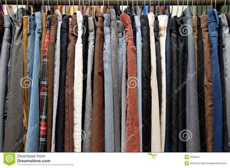 Used Clothing Racks by Used Clothing On Thrift Store Rack Stock Image Image