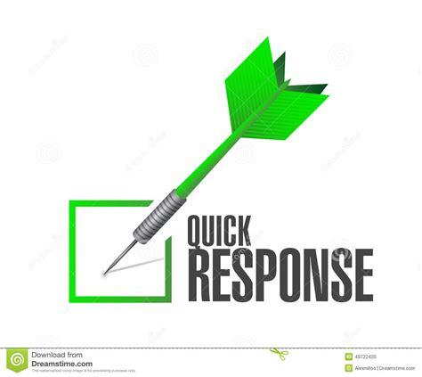 Fast Respon response dart check illustration design stock