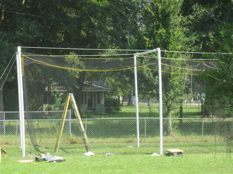 how to build a batting cage in your backyard batting cage pvc ftempo
