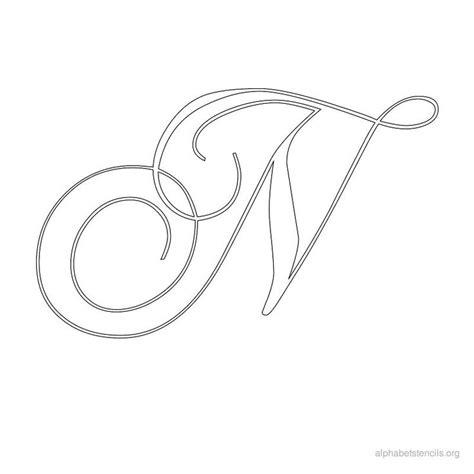 print free alphabet stencils calligraphy n patronen