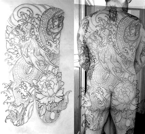 Elements Home Design Portfolio dragon tattoo back piece terry ribera