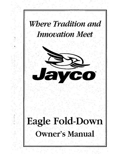 Jayco Fold Down Pop Up Tent Trailer Owners Manual 1999